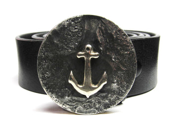 anchor belt buckle hand made Tyger Forge