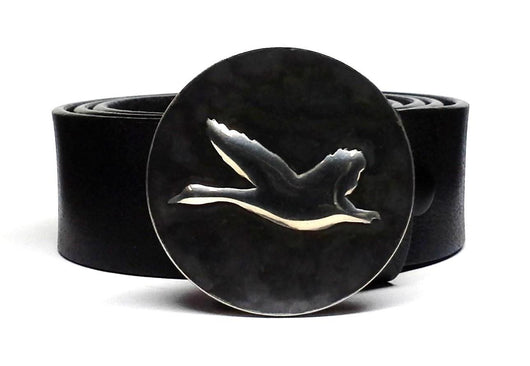 Flying Goose Belt Buckle Hand Embossed - TYGER FORGE - Mark Goodwin