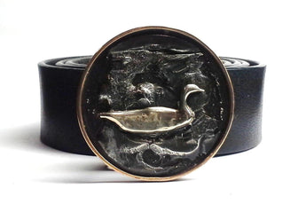 Swimming Goose Belt Buckle All Cast - TYGER FORGE - Mark Goodwin