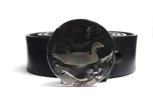 Swimming Goose Belt Buckle Hand Cut - TYGER FORGE - Mark Goodwin
