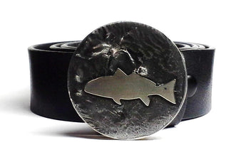 Redfish Belt Buckle Hand Cut - TYGER FORGE - Mark Goodwin