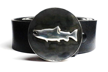 Salmon Belt Buckle Hand Embossed - TYGER FORGE - Mark Goodwin