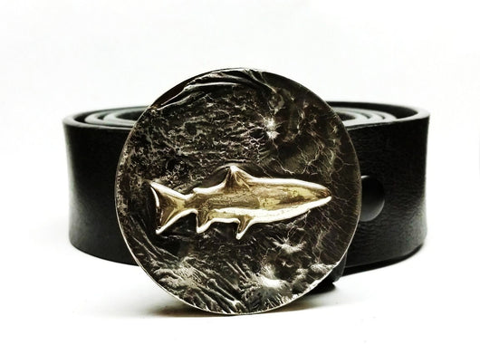 Trout Belt Buckle Hand Cast - TYGER FORGE - Mark Goodwin