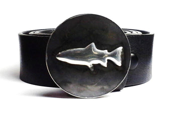 Trout Belt Buckle Hand Embossed - TYGER FORGE - Mark Goodwin