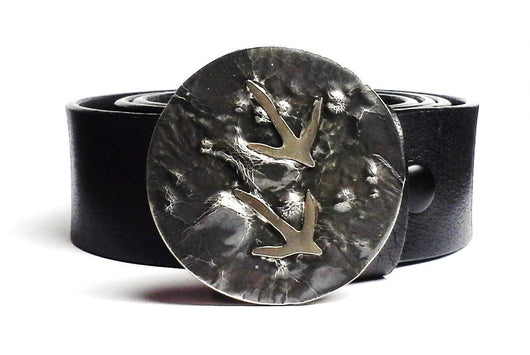 Turkey Tracks Belt Buckle Hand Cut - TYGER FORGE - Mark Goodwin