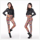 Womens Playful BAM POW Comic Print Leggings