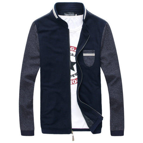 Mens Slim Fit Long Sleeve Jacket