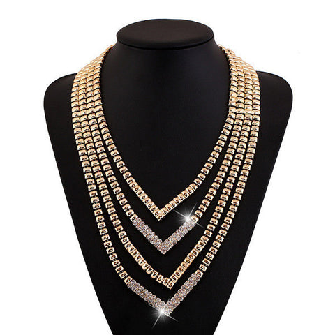 Trendy Multi-layer Golden Necklace