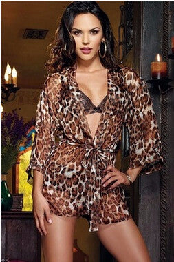 Sexy Cheetah Print Babydoll Lovely Lingerie