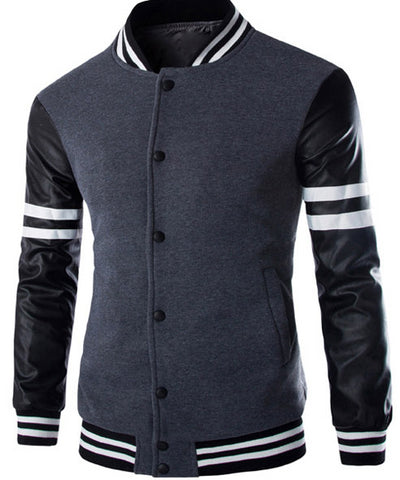 Mens Slim Cool Varsity Jacket