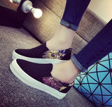 Womens Cute Slip-On Floral Casual Sneakers