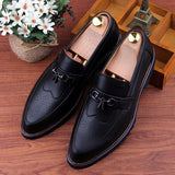 Mens Urban Brogue Style Loafer Dress Shoes