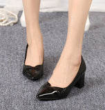 Womens Sleek Close Toe Work Heels