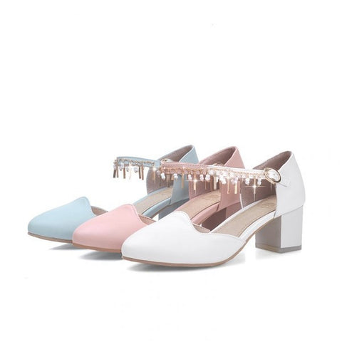 Womens Hot Close Toe Ankle Strap Heels