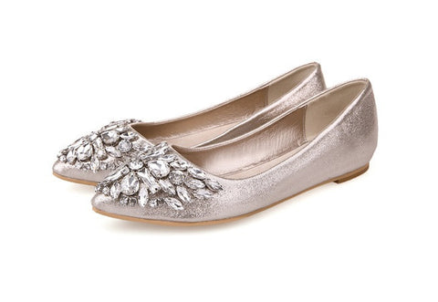 Womens Elegant Jewel Flats