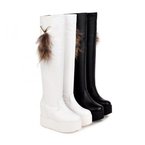 Womens Lovely Knee High Platform Boots