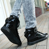 Mens Urban Edgy High-Top Casual Sneakers