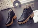 Womens Edgy Rugged Platform Boots