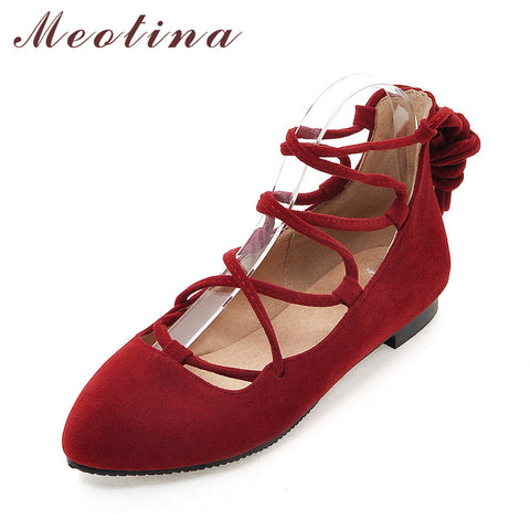 Womens Flat Pointed Toe Ballerina Flats Gladiator Shoes