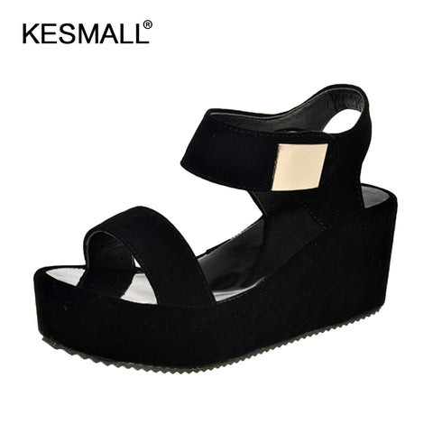 Womens New Sponge Cake Thick Heels Fish Wedge Mouth Roman Tide Sandals