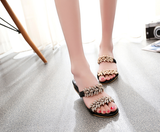 Womens Bling Strap Elegant Sandals