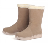 Womens Casual Cotton Fur Winter Boots