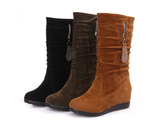 Womens Classy High-Top Moto Boots