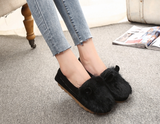 Womens Cute Fuzzy Animal Casual Loafers