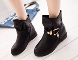 Womens Cute Trendy Moto Boots