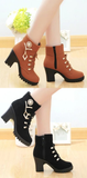 Womens Trendy High-Top Edgy Heel Boots