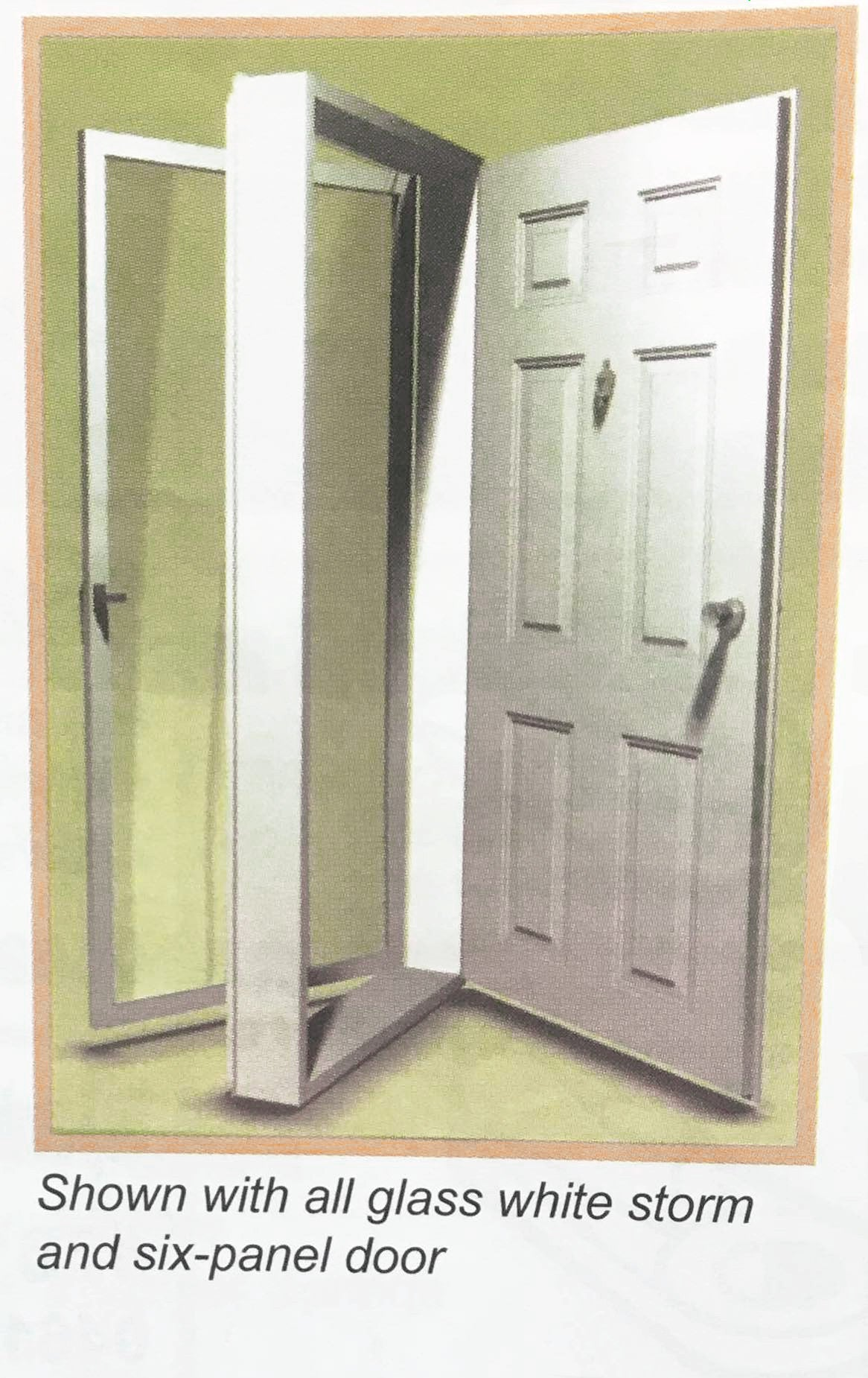 Elixir Industries Series 9000 Vinyl Steel Combination Door