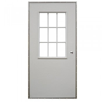 Elixir Exterior Outswing Door with 9 Light Cottage Window Series 200