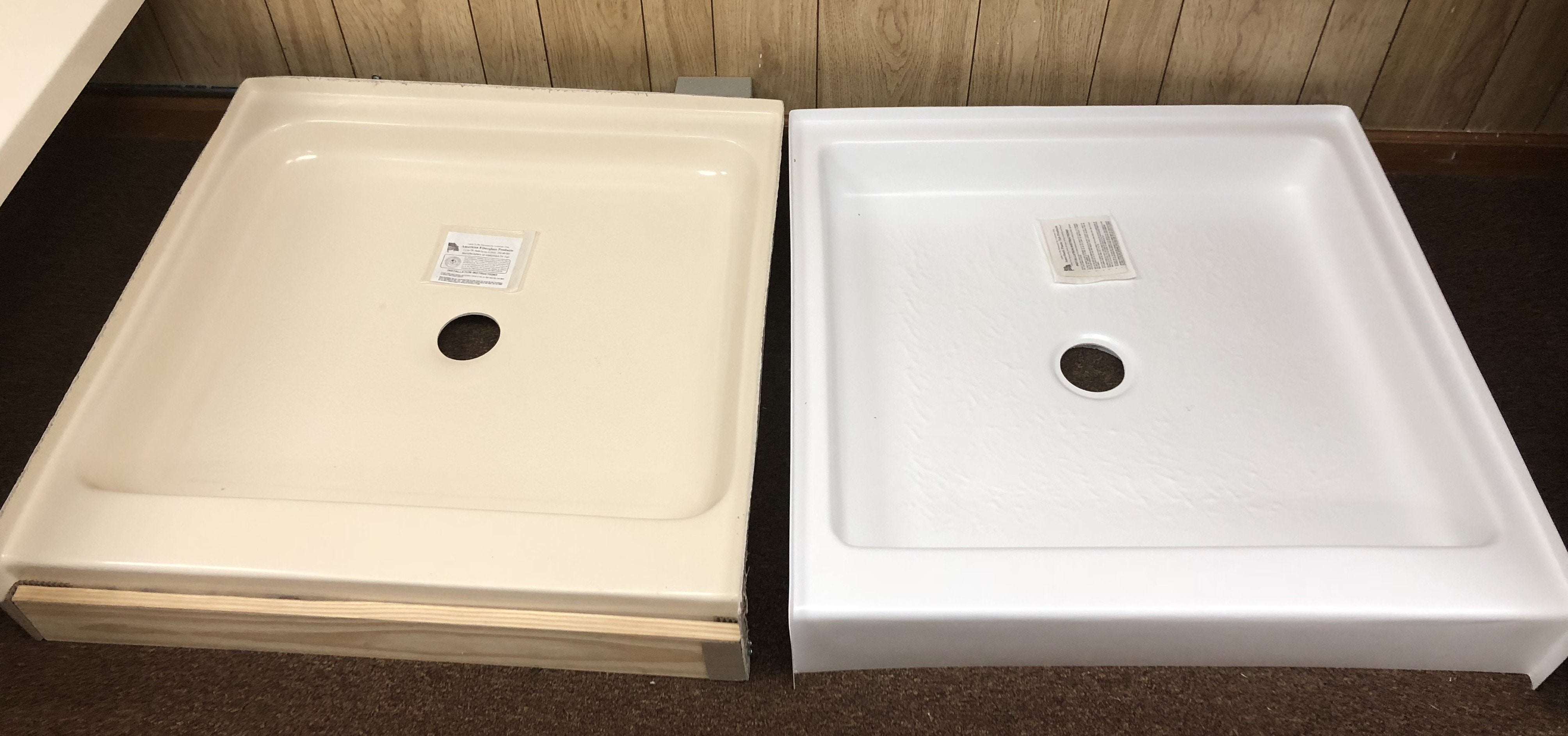 IMG_3686 Mobile Home Shower Bases on pans 24 inch wide, surrounds for, toilet stove, tub combo 54 27, stalls renovation, replacement kit, base for, door 20x62,