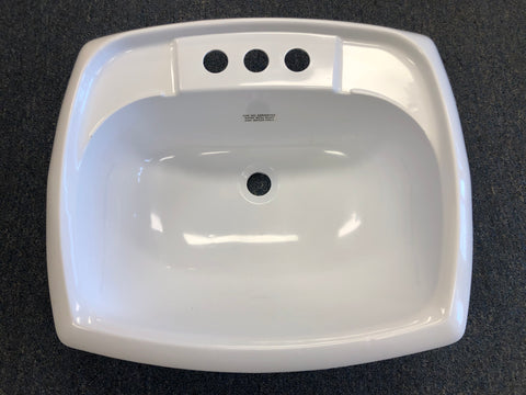 Mobile Home Rectangular Bathroom Sink PVC