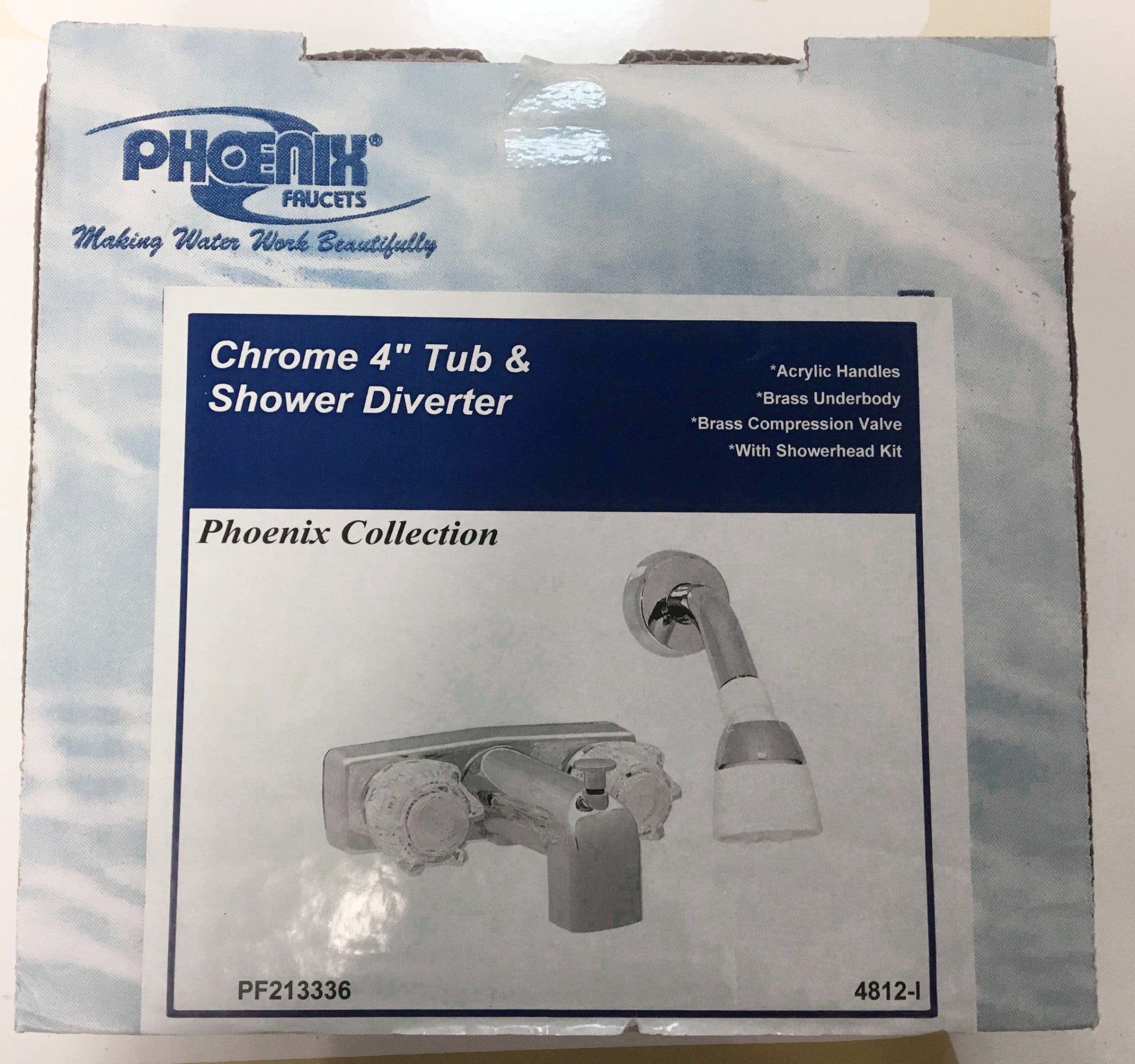 Tub and Shower Concealed Faucet and Showerhead Kit 4\