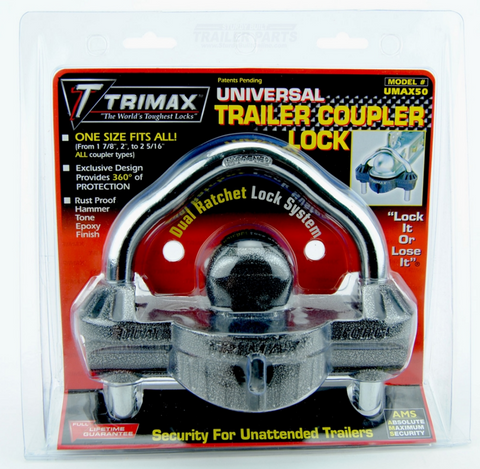 Universal Trailer Coupler Lock by Trimax UMAX50