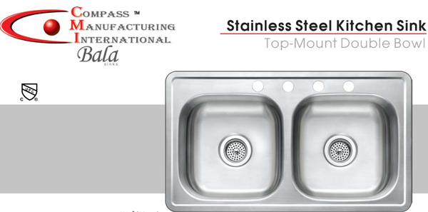 Stainless Steel Double Bowl Kitchen Sink M Amp L Mobile Home