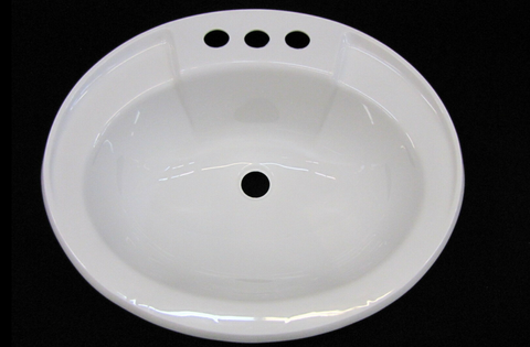 Oval Bathroom Sink PVC White or Bone