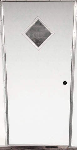Elixir Series 200 Exterior Outswing Door with Diamond Window L/H or R/H - 32x78 / Left Hand