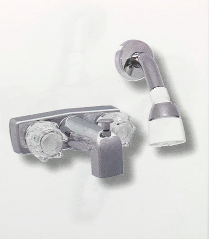 Tub and Shower Concealed Faucet and Showerhead Kit 4""
