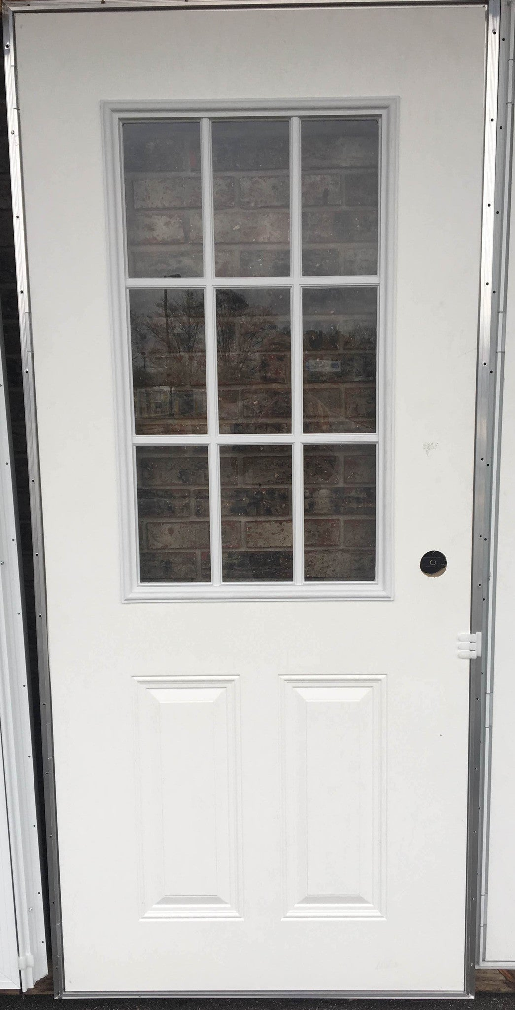 Elixir Exterior Outswing Panel Steel Door with 9 Light Cottage ...