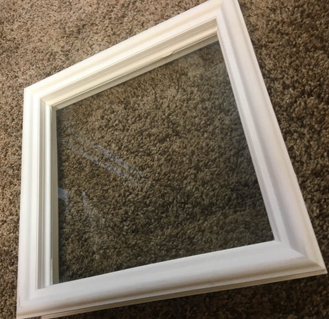 Diamond Replacement Window for Elixir Doors in White