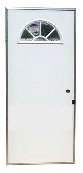 Elixir Series 200 Exterior Outswing Door with Sunburst Fan Window ...