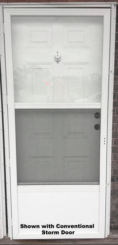 "Elixir Industries Series 9000 Vinyl Steel Combination Door R/H L/H 4"" Jamb"