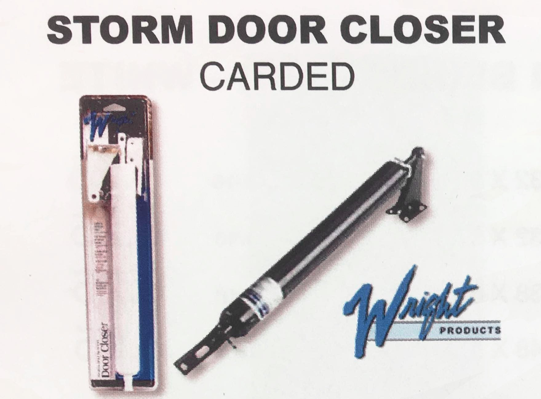 Storm Door Closer Black Or White By Wright Products