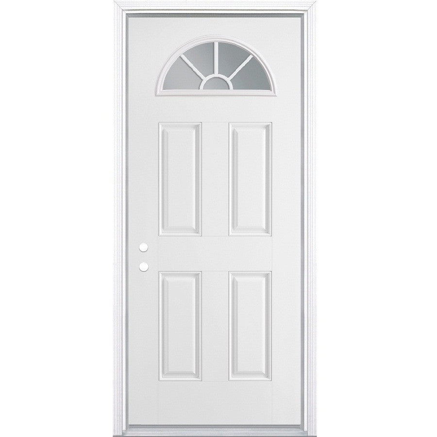 Elixir Industries Fan Window Vinyl Steel Combo Door With