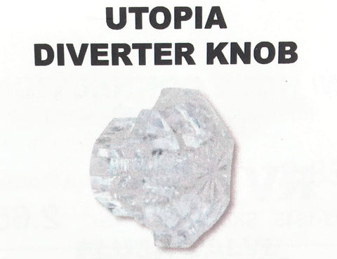 Utopia Faucet Diverter Lift Knob Clear