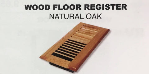 Wood Floor Vent Register 4x8 or 4x10