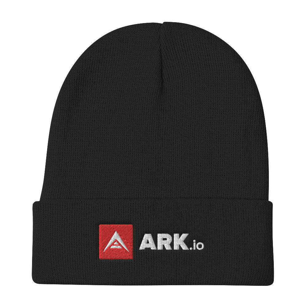 ARK white letter embroidered beanie