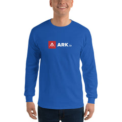 ARK white letter Long Sleeve Shirt